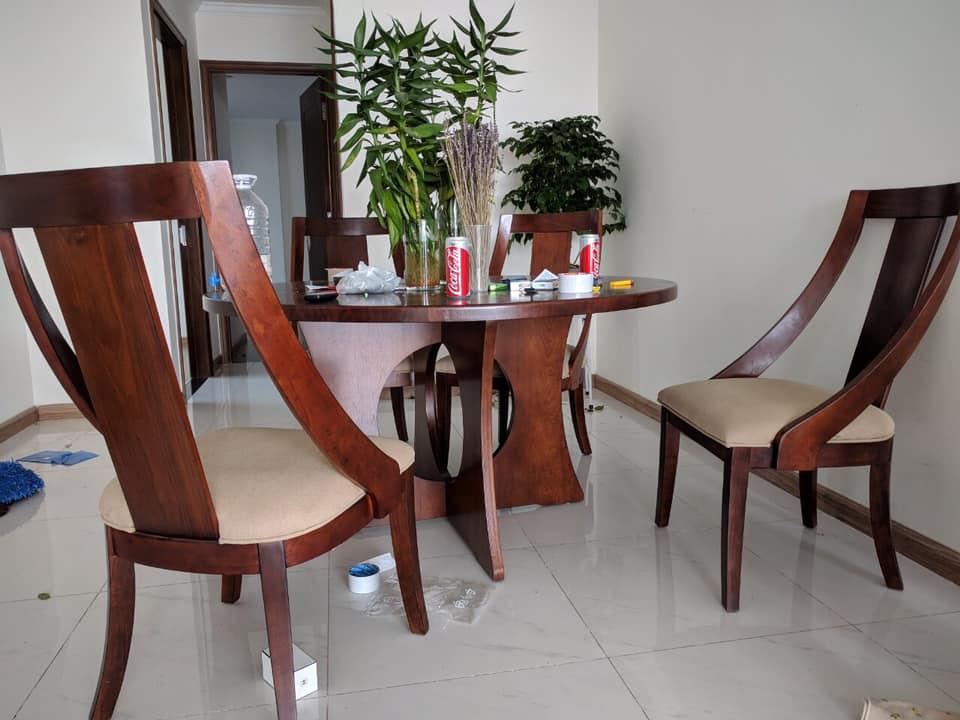 bàn ăn 4 ghế giá rẻ.